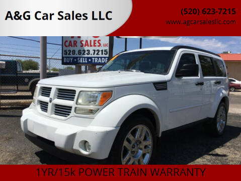 2011 Dodge Nitro for sale at A&G Car Sales  LLC in Tucson AZ
