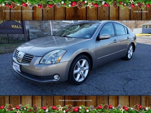 2004 Nissan Maxima for sale at GREAT MEADOWS AUTO SALES in Great Meadows NJ