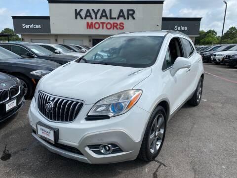 2014 Buick Encore for sale at KAYALAR MOTORS in Houston TX