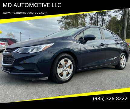 2016 Chevrolet Cruze for sale at MD AUTOMOTIVE LLC in Slidell LA