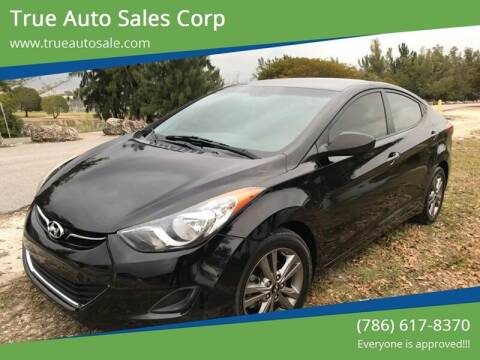 2013 Hyundai Elantra for sale at True Auto Sales Corp in Miami FL
