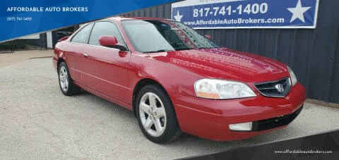 2001 Acura CL for sale at AFFORDABLE AUTO BROKERS in Keller TX