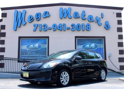 2012 Mazda Mazda3 Hatchback for sale at MEGA MOTORS in South Houston TX