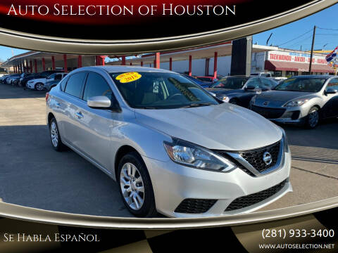 2018 Nissan Sentra for sale at Auto Selection of Houston in Houston TX