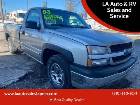 2003 Chevrolet Silverado 1500 for sale at LA Auto & RV Sales and Service in Lapeer MI