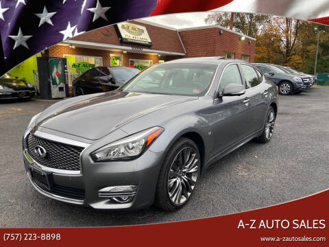 2017 Infiniti Q70 for sale at A-Z Auto Sales in Newport News VA
