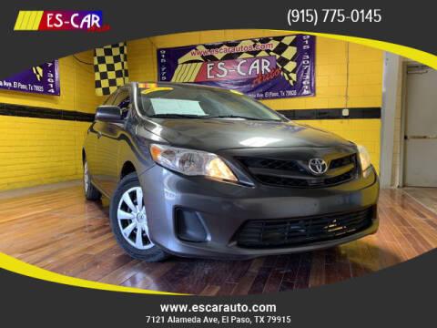 2013 Toyota Corolla for sale at Escar Auto - 9809 Montana Ave Lot in El Paso TX