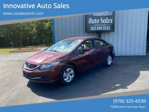 2014 Honda Civic for sale at Innovative Auto Sales in North Hampton NH