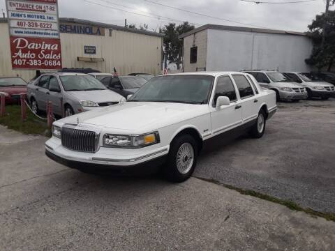 1997 Lincoln Town Car for sale at DAVINA AUTO SALES in Orlando FL