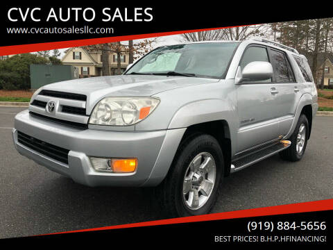 2004 Toyota 4Runner for sale at CVC AUTO SALES in Durham NC