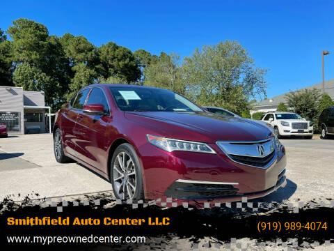 2015 Acura TLX for sale at Smithfield Auto Center LLC in Smithfield NC