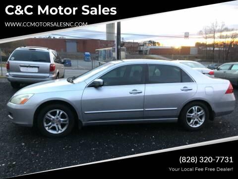 2007 Honda Accord for sale at C&C Motor Sales LLC in Hudson NC