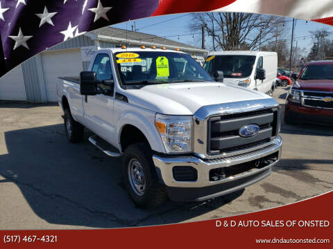 2016 Ford F-350 Super Duty for sale at D & D Auto Sales Of Onsted in Onsted MI