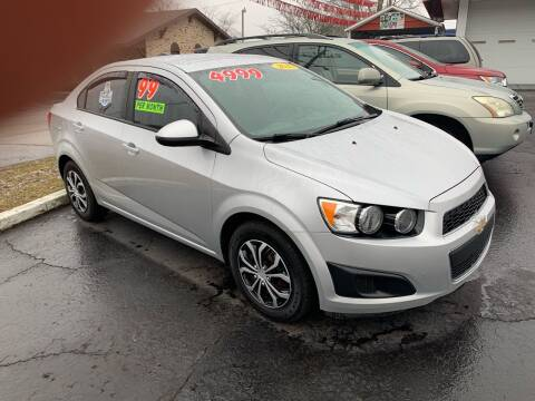 2015 Chevrolet Sonic for sale at Clarks Auto Sales in Connersville IN