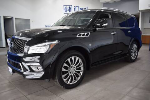 2015 Infiniti QX80 for sale at iDeal Auto Imports in Eden Prairie MN