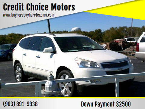 2011 Chevrolet Traverse for sale at Credit Choice Motors in Sherman TX