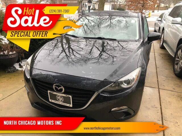 2014 Mazda MAZDA3 for sale at NORTH CHICAGO MOTORS INC in North Chicago IL