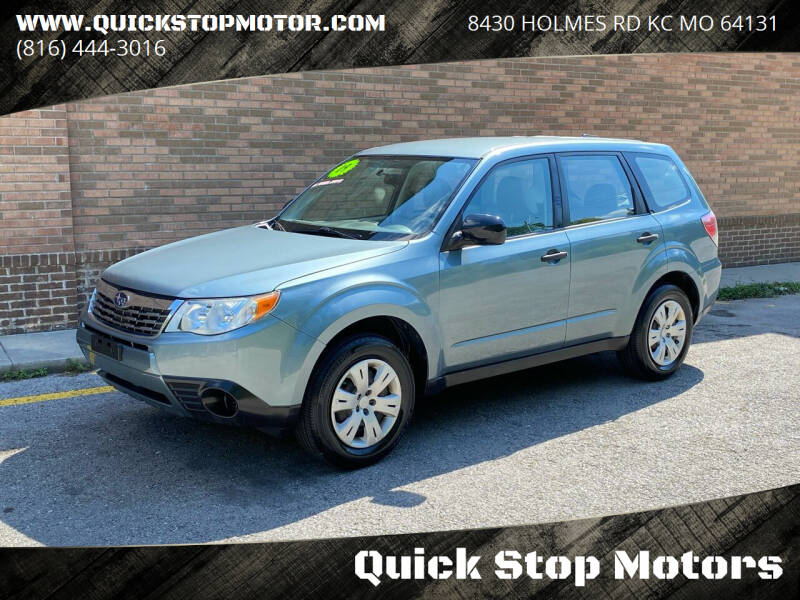 2009 Subaru Forester for sale at Quick Stop Motors in Kansas City MO