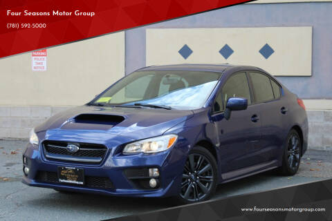 2016 Subaru WRX for sale at Four Seasons Motor Group in Swampscott MA