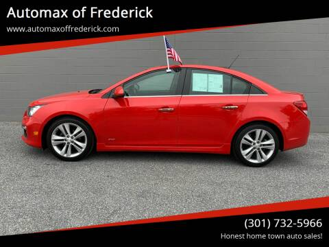 2015 Chevrolet Cruze for sale at Automax of Frederick in Frederick MD
