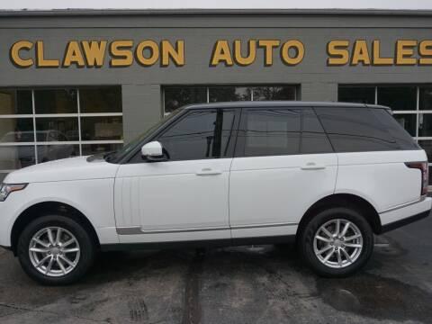 2014 Land Rover Range Rover for sale at Clawson Auto Sales in Clawson MI