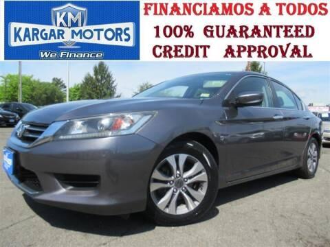 2014 Honda Accord for sale at Kargar Motors of Manassas in Manassas VA