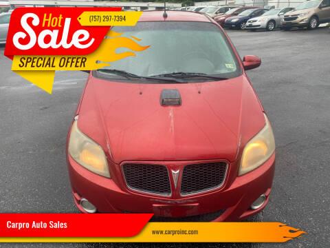 2009 Pontiac G3 for sale at Carpro Auto Sales in Chesapeake VA