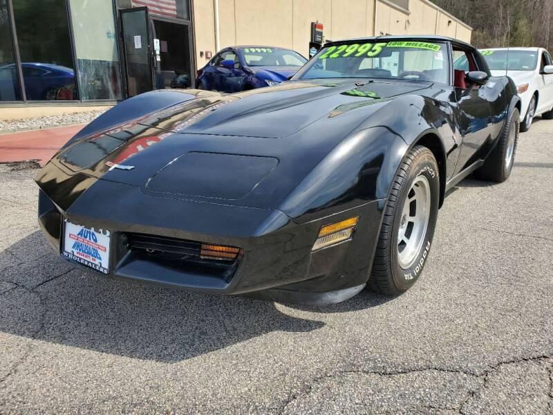 1980 Chevrolet Corvette for sale at Auto Wholesalers Of Hooksett in Hooksett NH