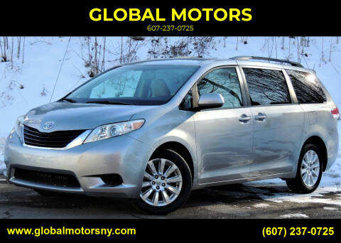 2011 Toyota Sienna for sale at GLOBAL MOTORS in Binghamton NY
