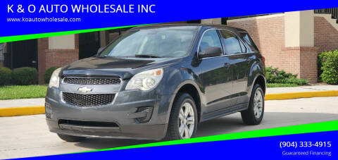 2011 Chevrolet Equinox for sale at K & O AUTO WHOLESALE INC in Jacksonville FL