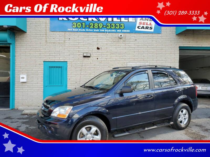 2009 Kia Sorento for sale at Cars Of Rockville in Rockville MD
