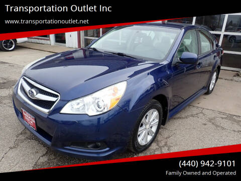 2011 Subaru Legacy for sale at Transportation Outlet Inc in Eastlake OH