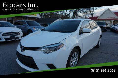 2016 Toyota Corolla for sale at Ecocars Inc. in Nashville TN