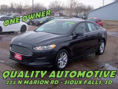 2014 Ford Fusion for sale at Quality Automotive in Sioux Falls SD
