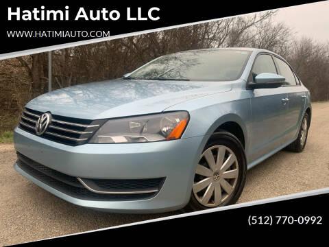 2012 Volkswagen Passat for sale at Hatimi Auto LLC in Buda TX