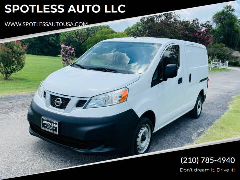 2016 Nissan NV200 for sale at SPOTLESS AUTO LLC in San Antonio TX