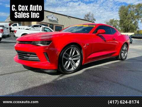 2018 Chevrolet Camaro for sale at C. Cox Auto Sales Inc in Joplin MO