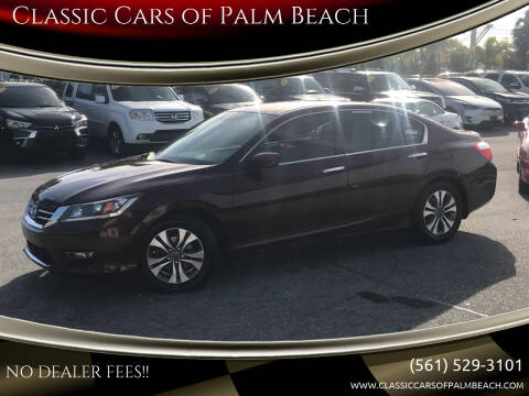 2013 Honda Accord for sale at Classic Cars of Palm Beach in Jupiter FL