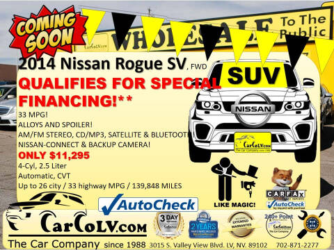 2014 Nissan Rogue for sale at The Car Company in Las Vegas NV