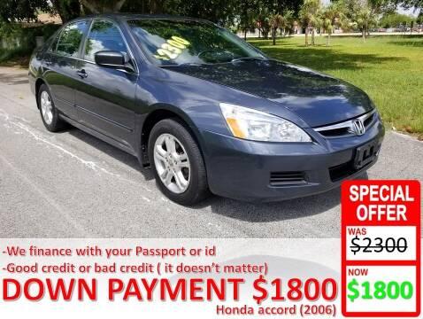 2006 Honda Accord for sale at AUTO COLLECTION OF SOUTH MIAMI in Miami FL