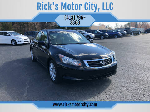 2009 Honda Accord for sale at Rick's Motor City, LLC in Springfield MA