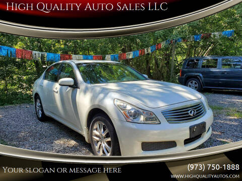 2007 Infiniti G35 for sale at High Quality Auto Sales LLC in Bloomingdale NJ