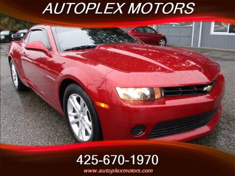 2015 Chevrolet Camaro for sale at Autoplex Motors in Lynnwood WA