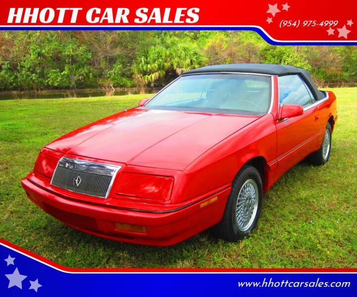 1992 Chrysler Le Baron for sale at HHOTT CAR SALES in Deerfield Beach FL