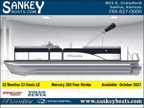 2022 Manitou 23 Aurora LE RF for sale at SankeyBoats.com in Salina KS