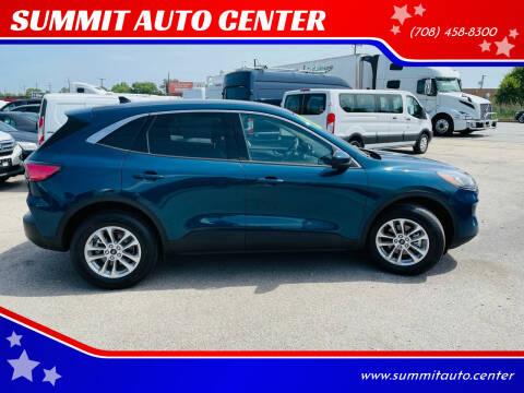 2020 Ford Escape for sale at SUMMIT AUTO CENTER in Summit IL