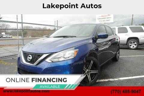 2017 Nissan Sentra for sale at Lakepoint Autos in Cartersville GA