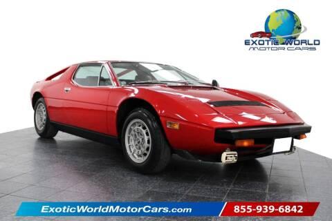 1979 Maserati Merak for sale at Exotic World Motor Cars in Addison TX
