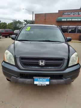 2003 Honda Pilot for sale at Arak Auto Brokers in Kankakee IL