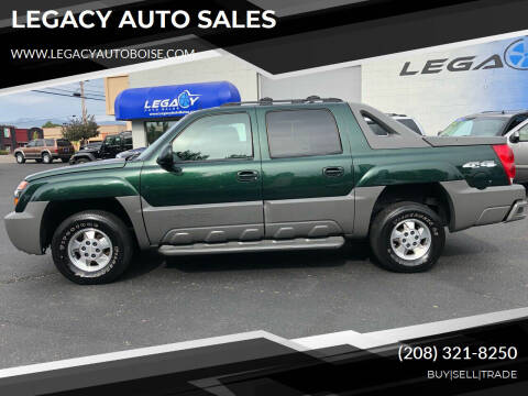 2002 Chevrolet Avalanche for sale at LEGACY AUTO SALES in Boise ID